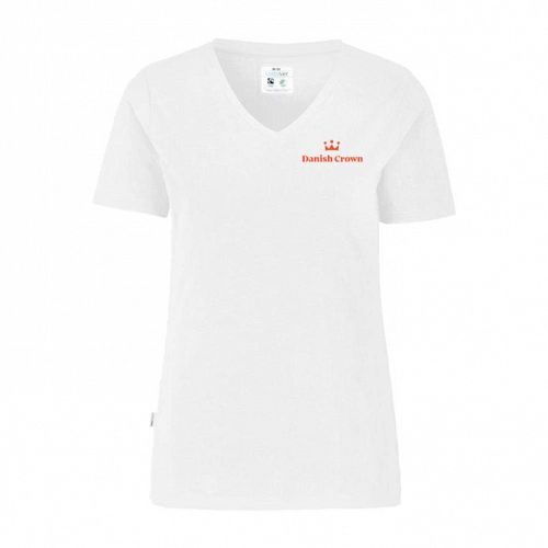 Women's Cottover T-shirt Slim Fit with Danish Crown Logo