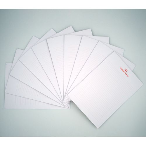 A5 writing pad with 25 sheets, 10 pcs. with Danish Crown logo