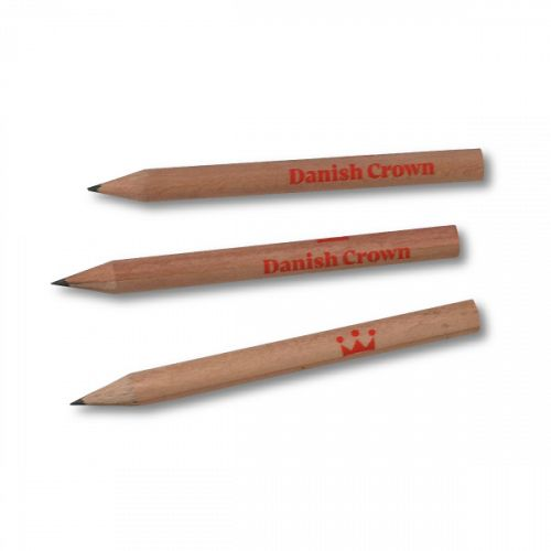Small Pencil, 100 pcs. with Danish Crown logo