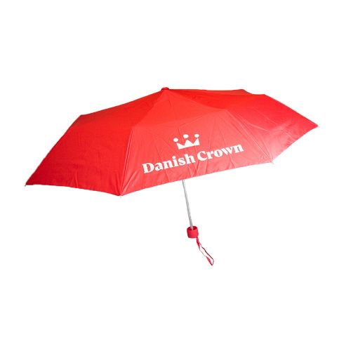 Foldable Umbrella with Danish Crown logo