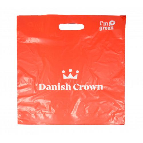 Carrier Bag, 100 pcs. with Danish Crown logo