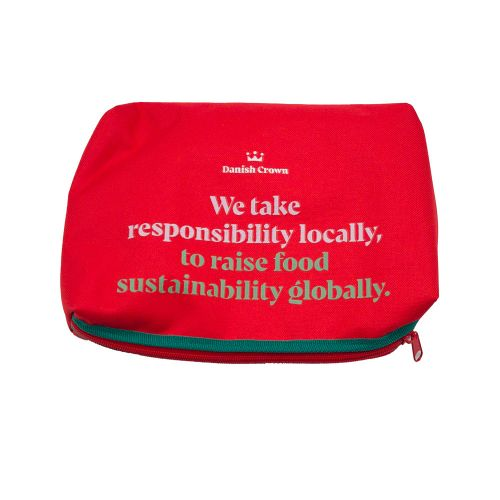 Toiletry bag; an upcycled product from Danish Crown