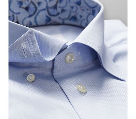 Sky Blue Twill Shirt – Papyrus Print Details