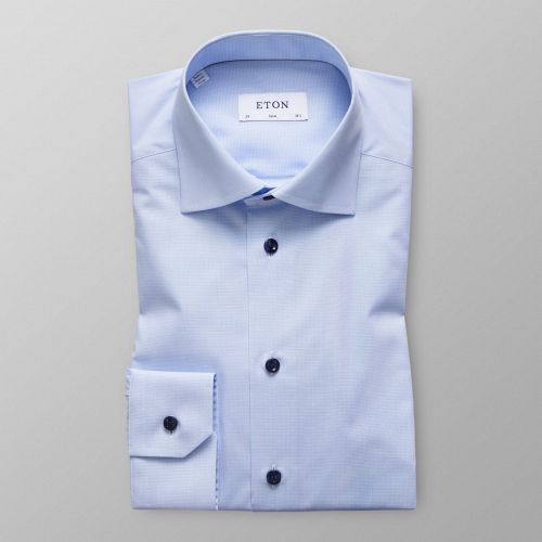 Sky Blue Shirt - Navy Buttons