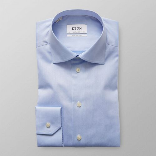 Eton Light blue extra long sleeve shirt, Contemporary fit