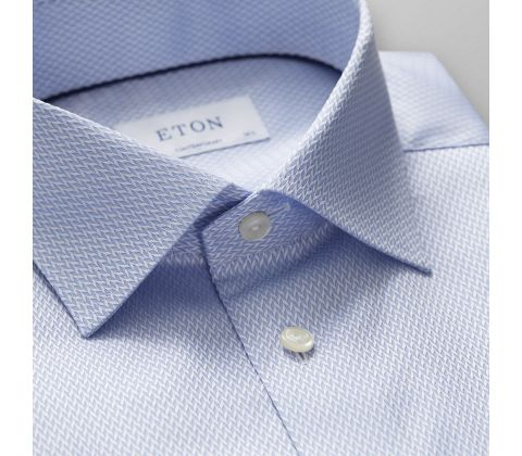 Sky Blue Micro Weave Twill Shirt
