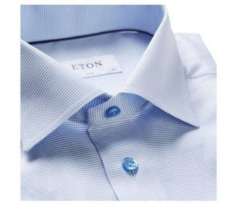 Eton Shirts Signature Twill Blue Shirt