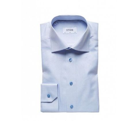Blue  Eton Shirts Signature Twill