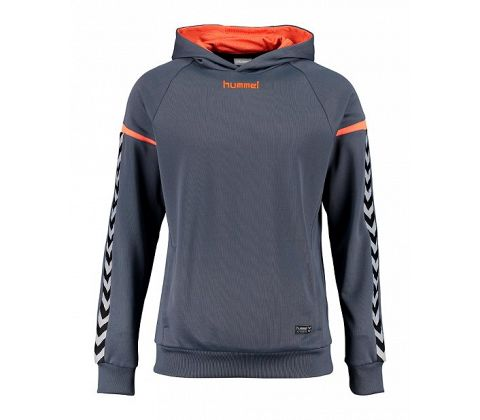 Senior Hummel Authentic Charge Poly Hoodie med tryk.